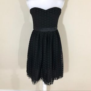 White House Black Market polka dot dress size 4